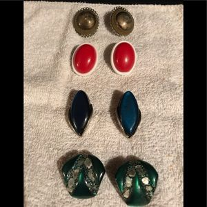 Assorted lot of vintage clip earrings